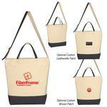 Custom Denim Kissed Cotton Canvas Tote Bag
