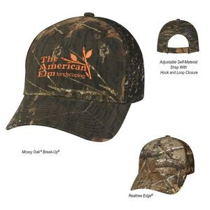 Realtree® And Mossy Oak® Hunter's Retreat Mesh Back Camouflage Cap