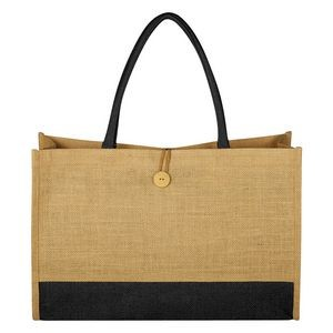 Jute Box Tote Bag
