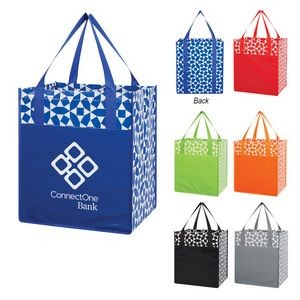 Geometric Non-Woven Shopping Tote Bag