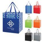 Custom Non-Woven Geometric Shopping Tote Bag