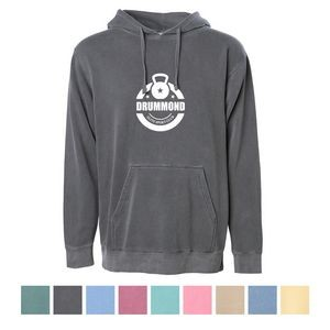 Independent Trading Company Unisex Midweight Pigment Dyed Hooded Sweatshirt