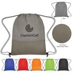 Custom Non-Woven Wave Design Drawstring Bag