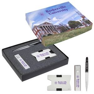 RFID Card Holder, Power Bank And Pen Gift Set