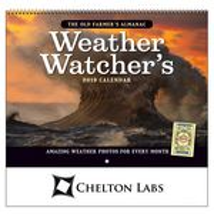 Custom 2018 The Old Farmer's Almanac Weather Watcher's Wall Calendar - Stapled