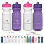 Custom 24 Oz. Poly-Clear Fitness Bottle