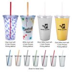 Custom 16 Oz. Double Wall Acrylic Tumbler With Insert