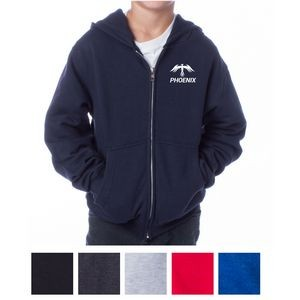 Independent Trading Company Youth Midweight Zip Hooded Sweatshirt
