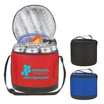 Custom Non-Woven Cans-To-Go Round Kooler Bag