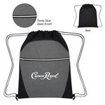 Custom Heathered Two-Tone Drawstring Sports Pack