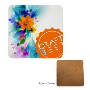 Plastic Coated MDF Coasters