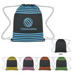 Custom Striped Drawstring Sports Pack