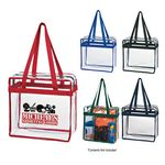 Custom Clear Tote Bag With Zipper