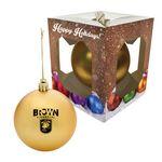 Custom Round Ornament With Custom Window Box