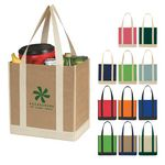 Custom Non-Woven Two-Tone Shopper Tote Bag