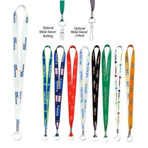 Full Color Imprint Smooth Dye-Sublimation Lanyard ¾""