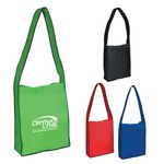 Custom Non-Woven Messenger Tote Bag With Hook And Loop Closure