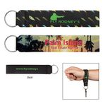 Custom Neoprene Wristband With Key Ring