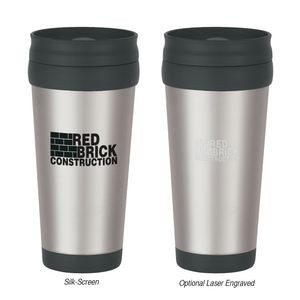 16 Oz. Stainless Steel Slide Action Travel Tumbler