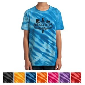 Port & Company® Youth Tiger Stripe Tie-Dye Tee