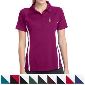 Sport-Tek® Ladies' PosiCharge® Micro-Mesh Colorblock Polo