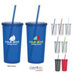 Custom 24 Oz. Newport Acrylic Tumbler With Straw