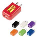 Custom UL Listed Rectangular USB A/C Adapter
