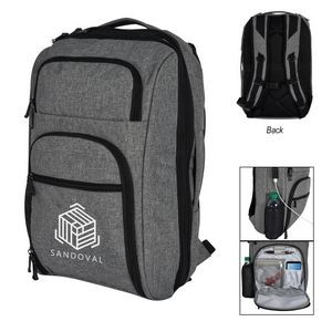 Heathered RFID Laptop Backpack & Briefcase