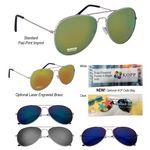 Custom Color Mirrored Aviator Sunglasses