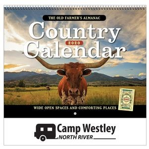 2020 The Old Farmer's Almanac Country Wall Calendar - Spiral