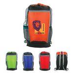 Custom Tri-Color Drawstring Backpack