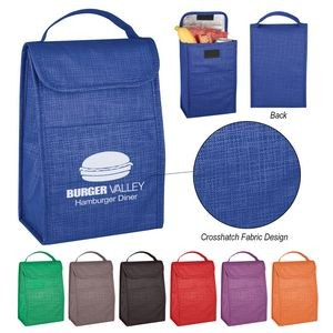Crosshatch Non-Woven Lunch Bag