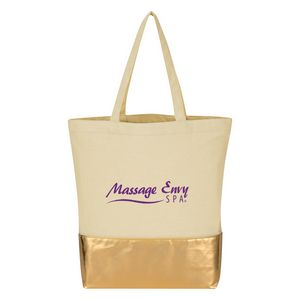 Custom 12 Oz. Cotton Tote Bag With Metallic Accent