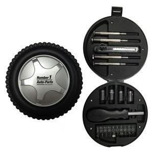 21-Piece Tool Set in Tire Case