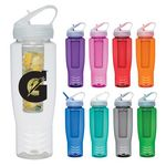 Custom 28 Oz. Poly-Clean Sports Bottle With Fruit Infuser