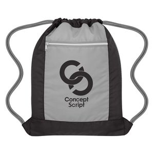 Custom Flip Side Drawstring Sports Bag