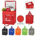 Custom Non-Woven Wave Design Kooler Lunch Bag