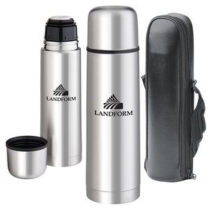 Stainless Steel Vacuum Bottle - 16 Oz.