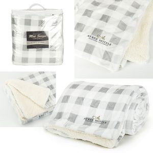 Mink Sherpa Blanket - Plaid