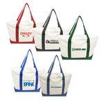 Custom 2 Tone Beach Tote Bag