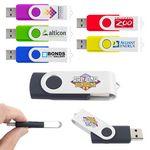 Custom 2GB Swivel USB Flash Drive