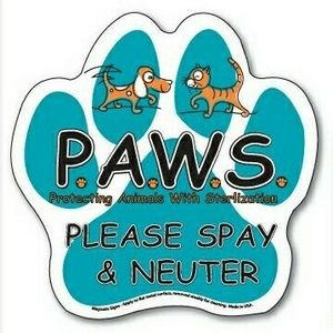 "Paw Print ColorVast™ Magnetic Sign (6""x6"")"