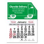 Custom Truck Peel-N-Stick Multi-Use Calendar