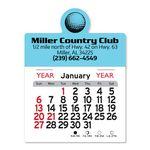 Custom Golf Ball Peel-N-Stick Multi-Use Calendar