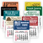 Custom Rectangle Peel-N-Stick Adhesive Multi-Use Calendar