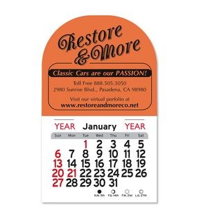Arch Billboard Peel-N-Stick® Calendar Magnetic