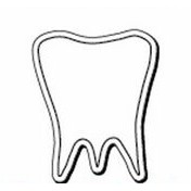 "Tooth Notekeeper™ Magnet - 35 Mil ColorVast® (2""x2 1/2"")"