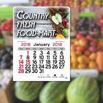 Custom Color Rich Rectangle Peel-N-Stick Adhesive Multi-Use Calendar