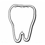 "Tooth Notekeeper™ Magnet - 20 Mil ColorVast® (2 1/2""x3 1/2"")"