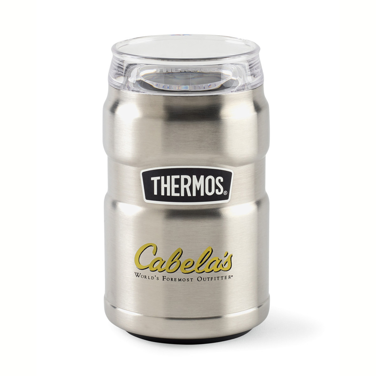 Thermos® Stainless King™ Dual Purpose Can Insulator with 360° Drink Lid - 10 Oz. Silver